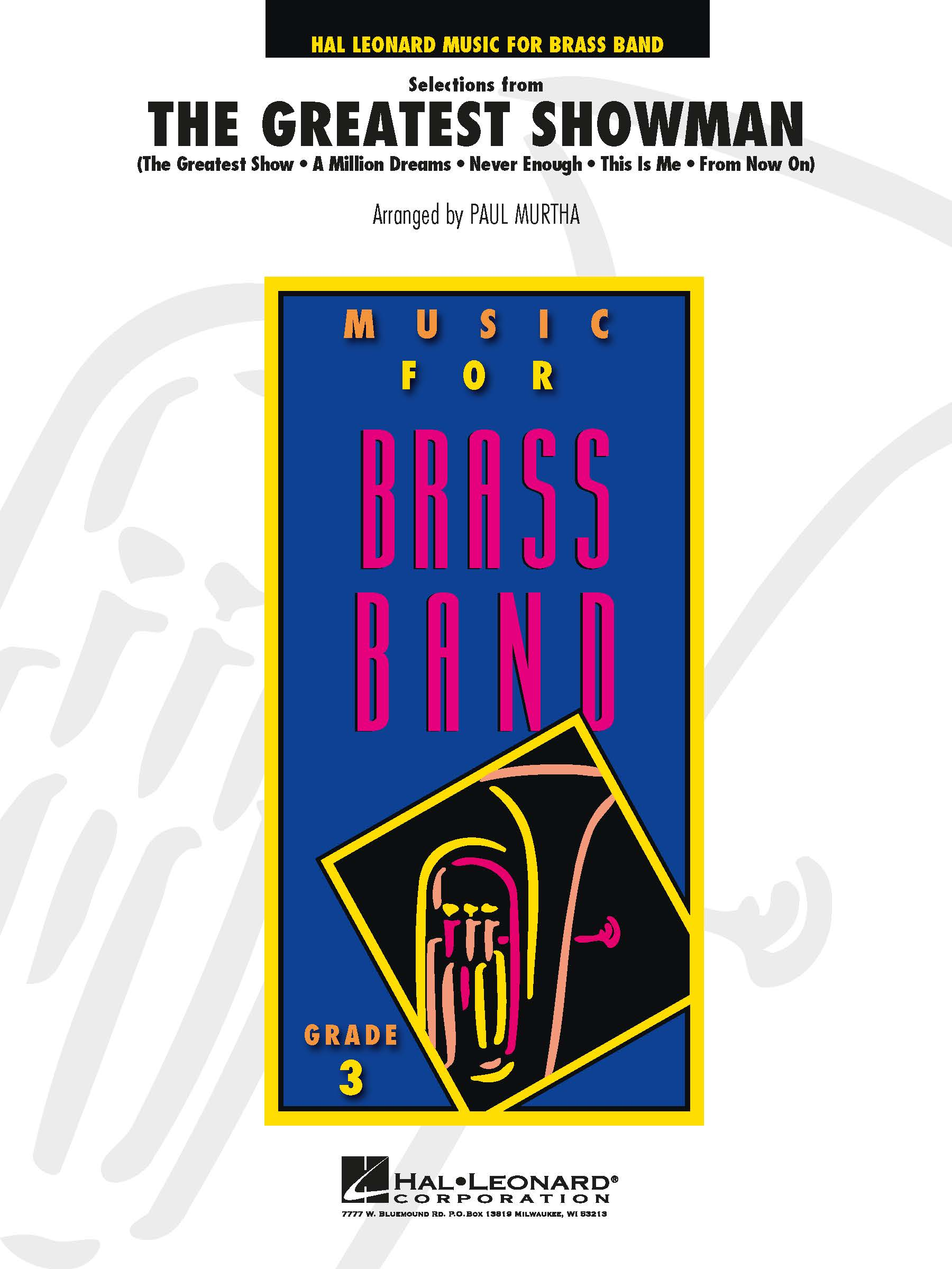 Selections from The Greatest Showman: Brass Band: Score