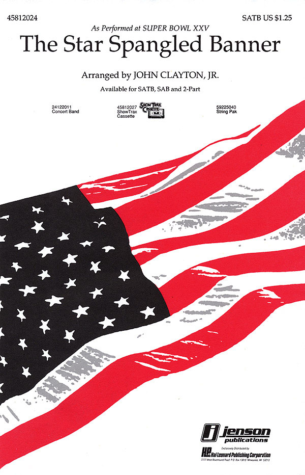 The Star Spangled Banner: SATB: Vocal Score
