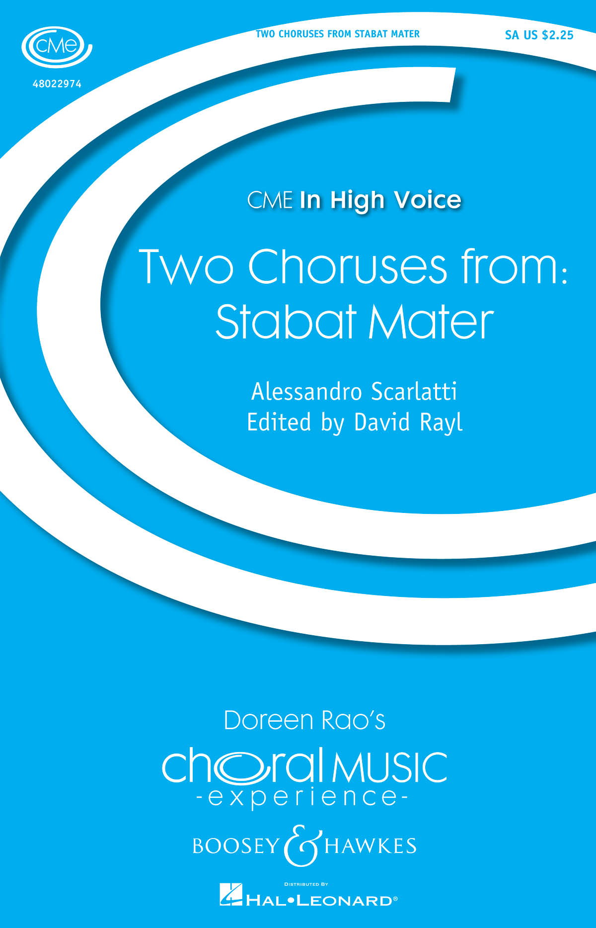 Alessandro Scarlatti: Two Choruses from Stabat Mater: 2-Part Choir: Vocal Score