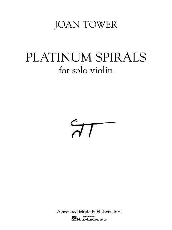 Joan Tower: Platinum Spirals: Violin: Instrumental Work