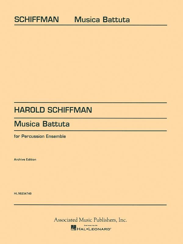 Harold Schiffman: Musica Battuta: Percussion: Score and Parts