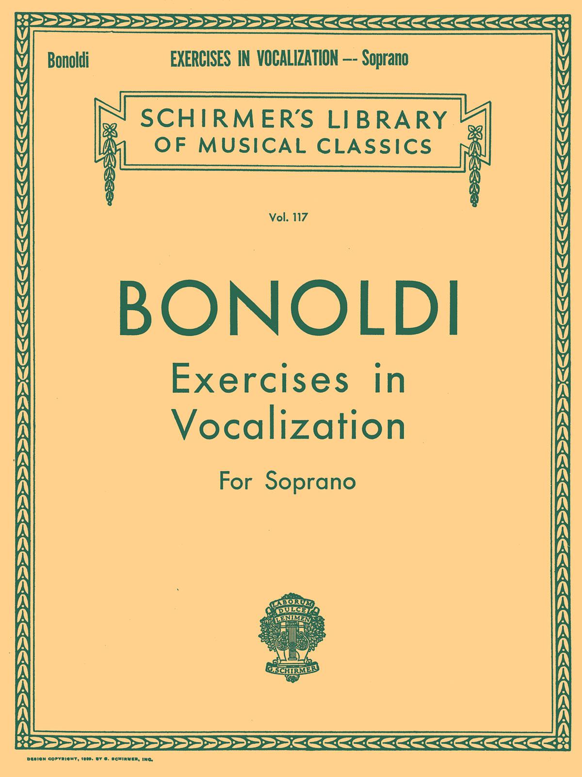 F Bonoldi: Exercises in Vocalization: Soprano: Vocal Tutor