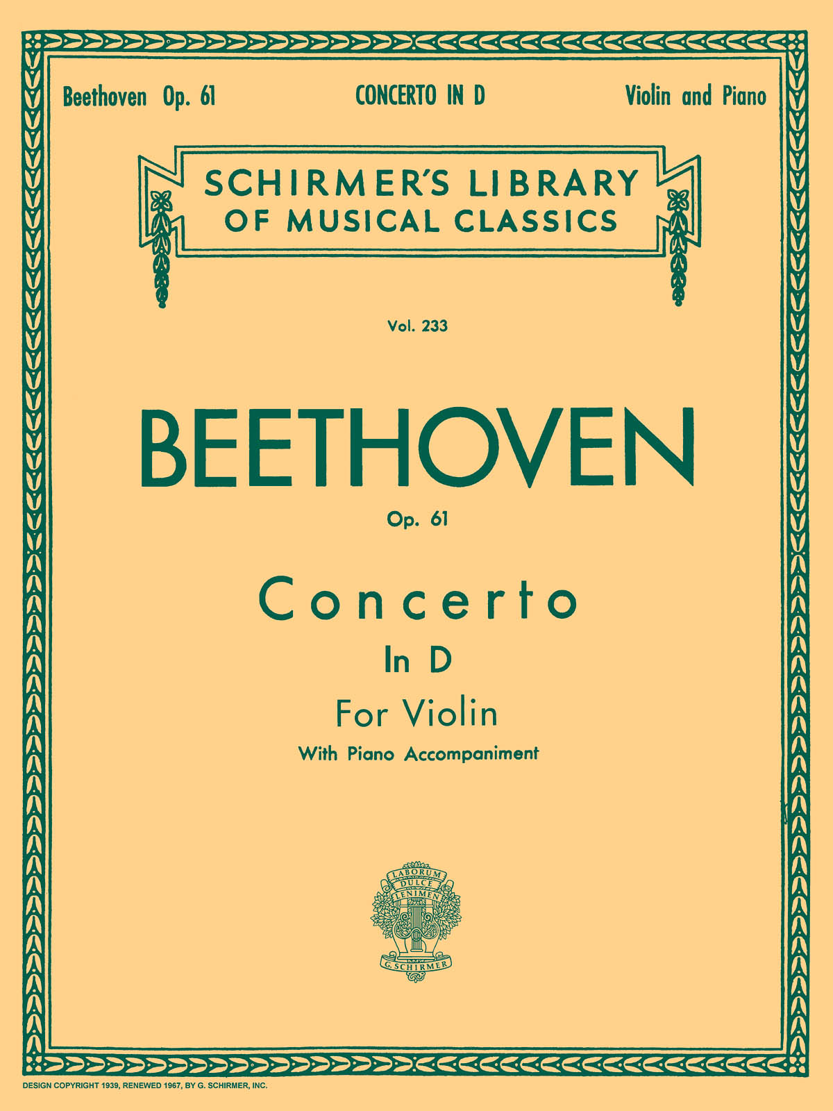 Ludwig van Beethoven: Violin Concerto In D Major Op. 61: Violin: Instrumental