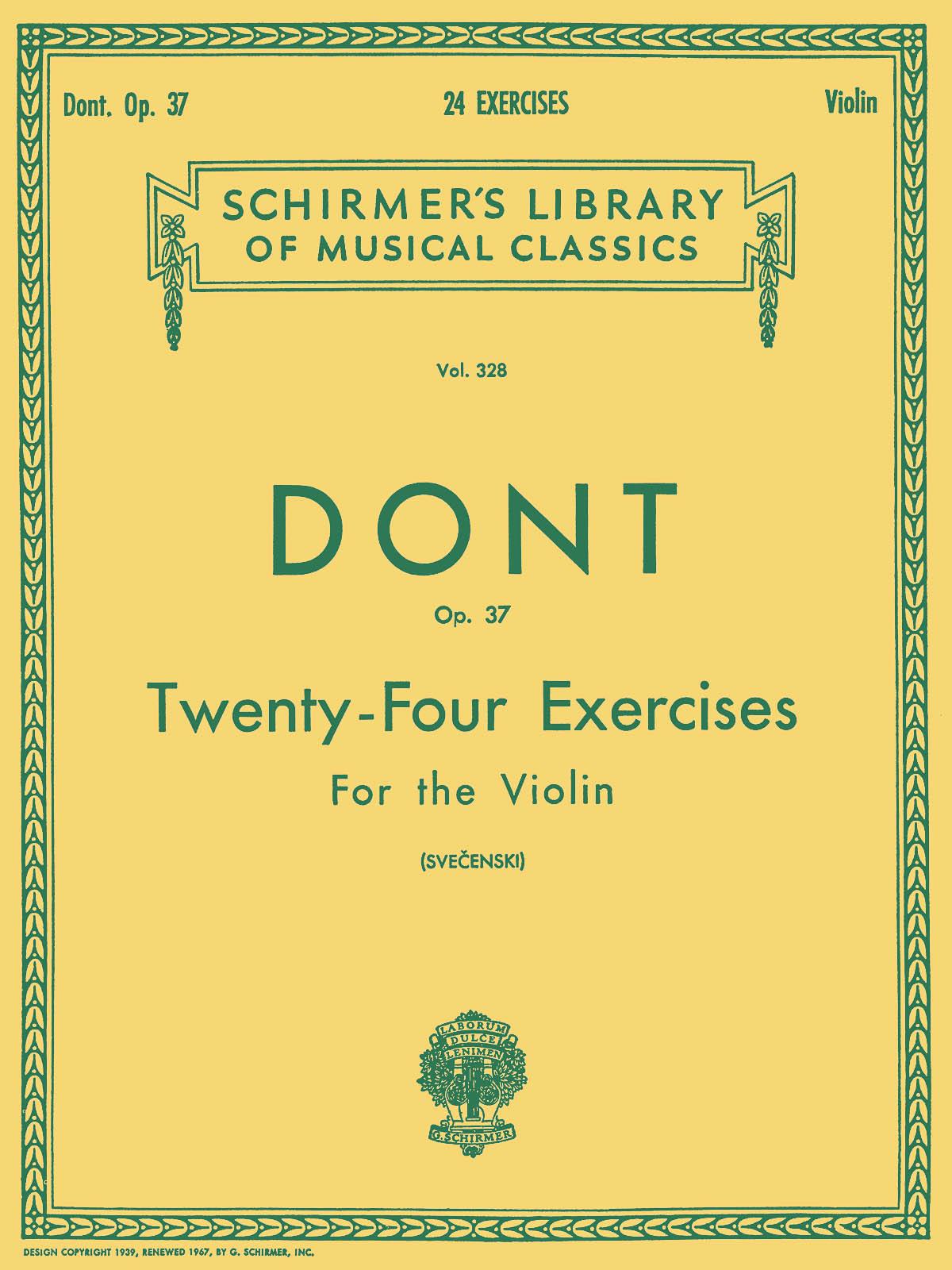 Jakob Dont: 24 Exercises  Op 37: Violin: Instrumental Tutor