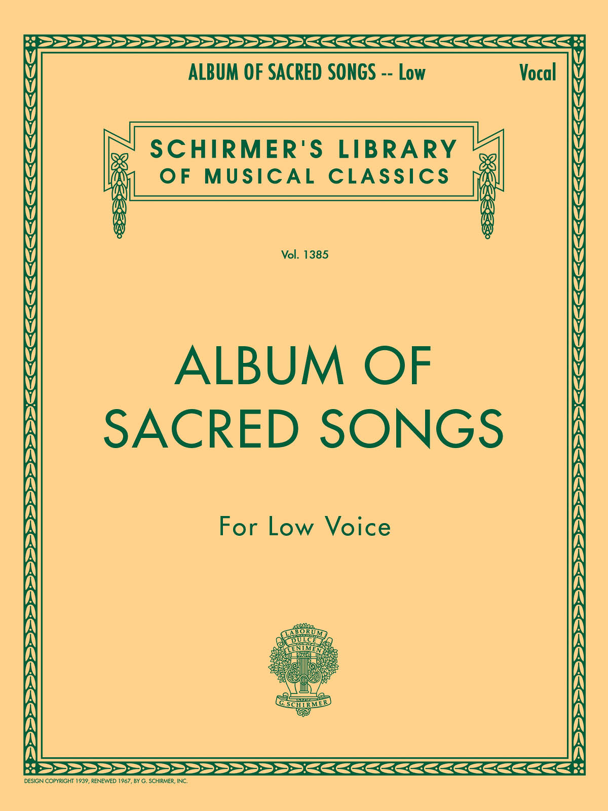 Album of Sacred Songs: Low Voice: Mixed Songbook