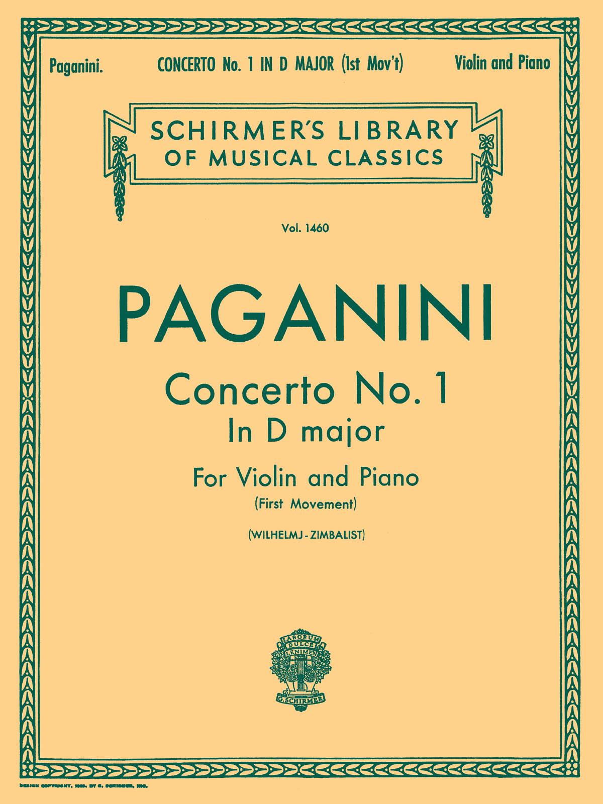 Niccolò Paganini: Violin Concerto No.1 In D First Movement: Violin: Instrumental