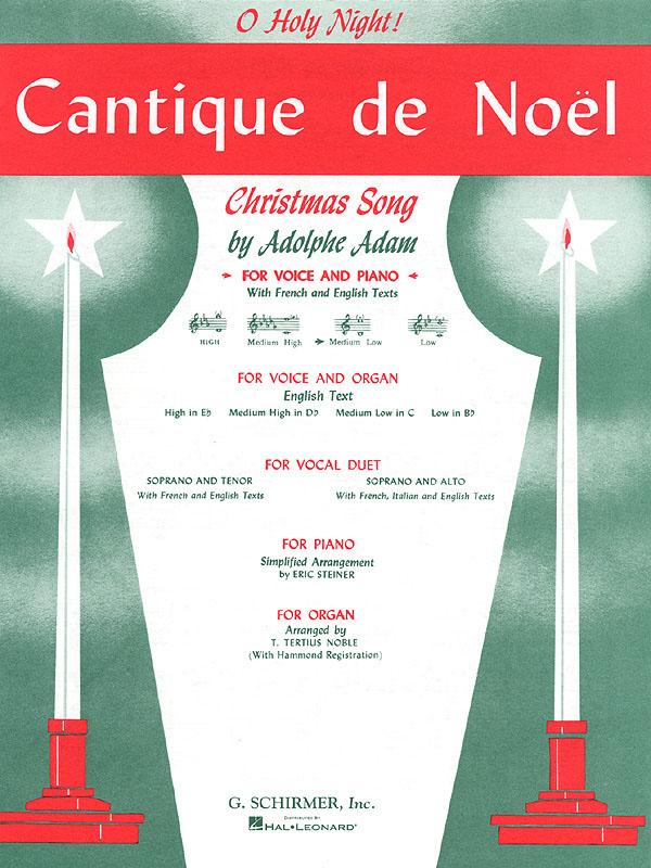 Adolphe Charles Adam: Cantique de No?l (O Holy Night): Medium Voice: Single