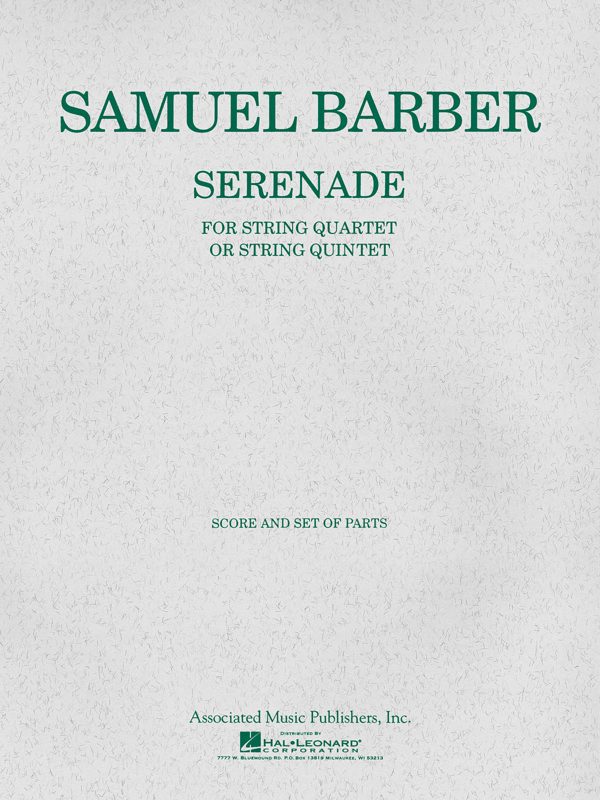 Samuel Barber: Serenade Op.1: Orchestra: Score and Parts