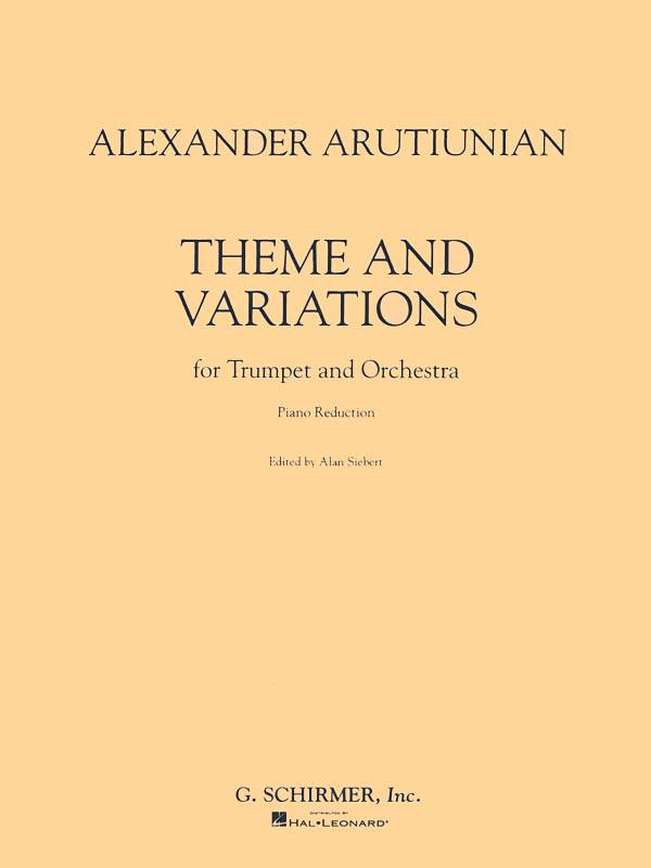Alexander Arutiunian: Theme And Variations: Trumpet: Instrumental Work