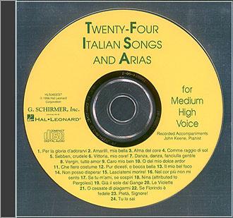 24 Italian Songs & Arias - CD: Mixed Choir