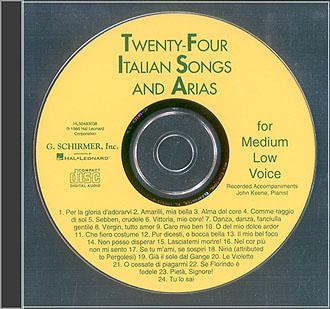 24 Italian Songs & Arias- CD: Medium Voice