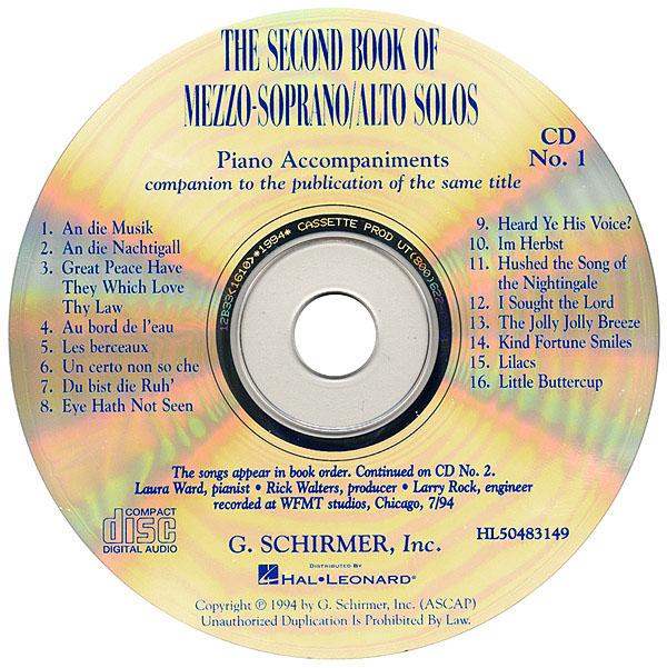 The Second Book of Mezzo-Soprano/Alto Solos: Mezzo-Soprano or Alto