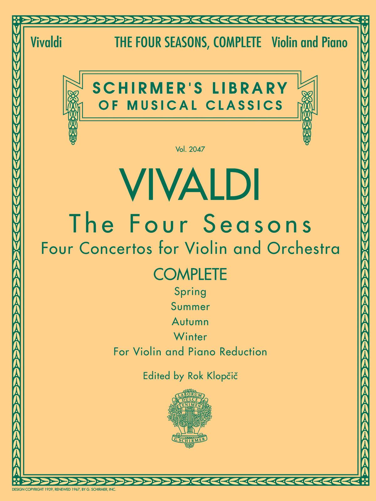 Antonio Vivaldi: The Four Seasons - Complete Edition: Violin: Instrumental Work