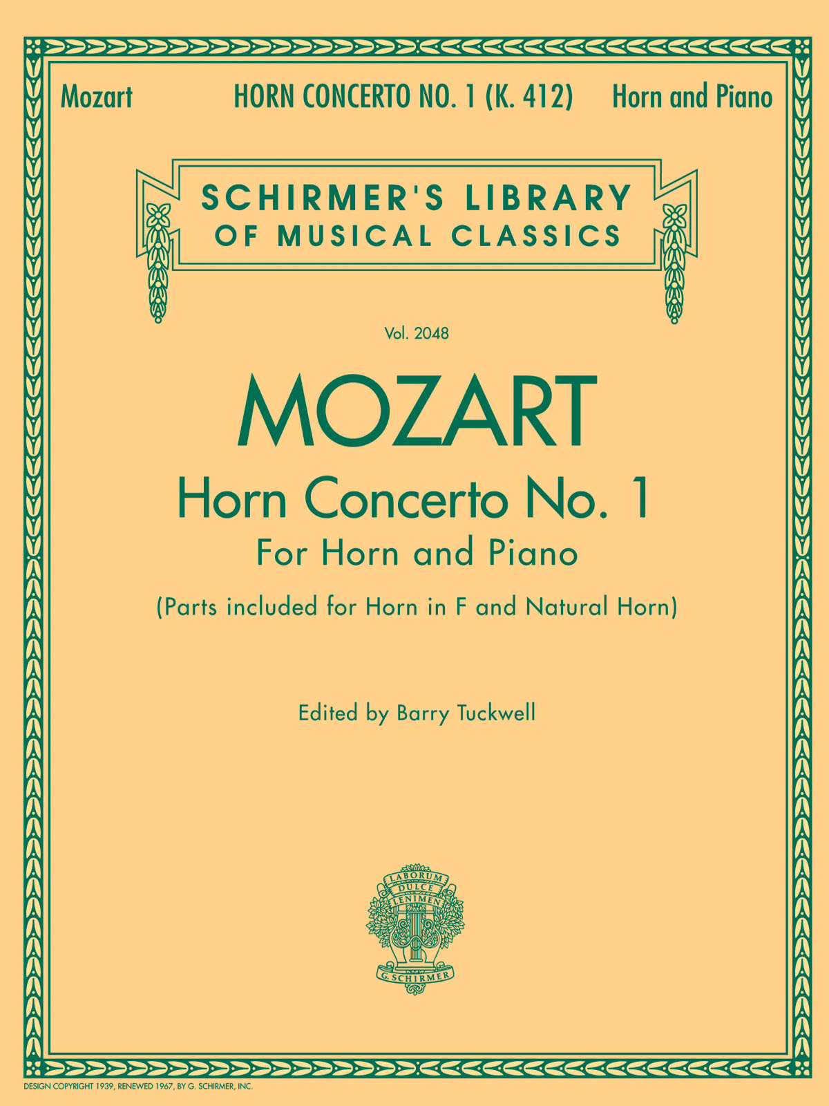 Wolfgang Amadeus Mozart: Horn Concerto No.1: French Horn: Instrumental Work