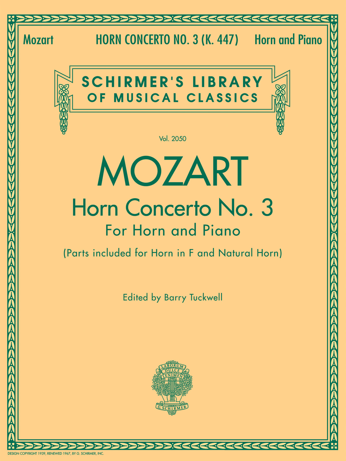 Wolfgang Amadeus Mozart: Horn Concerto No.3: French Horn: Instrumental Work