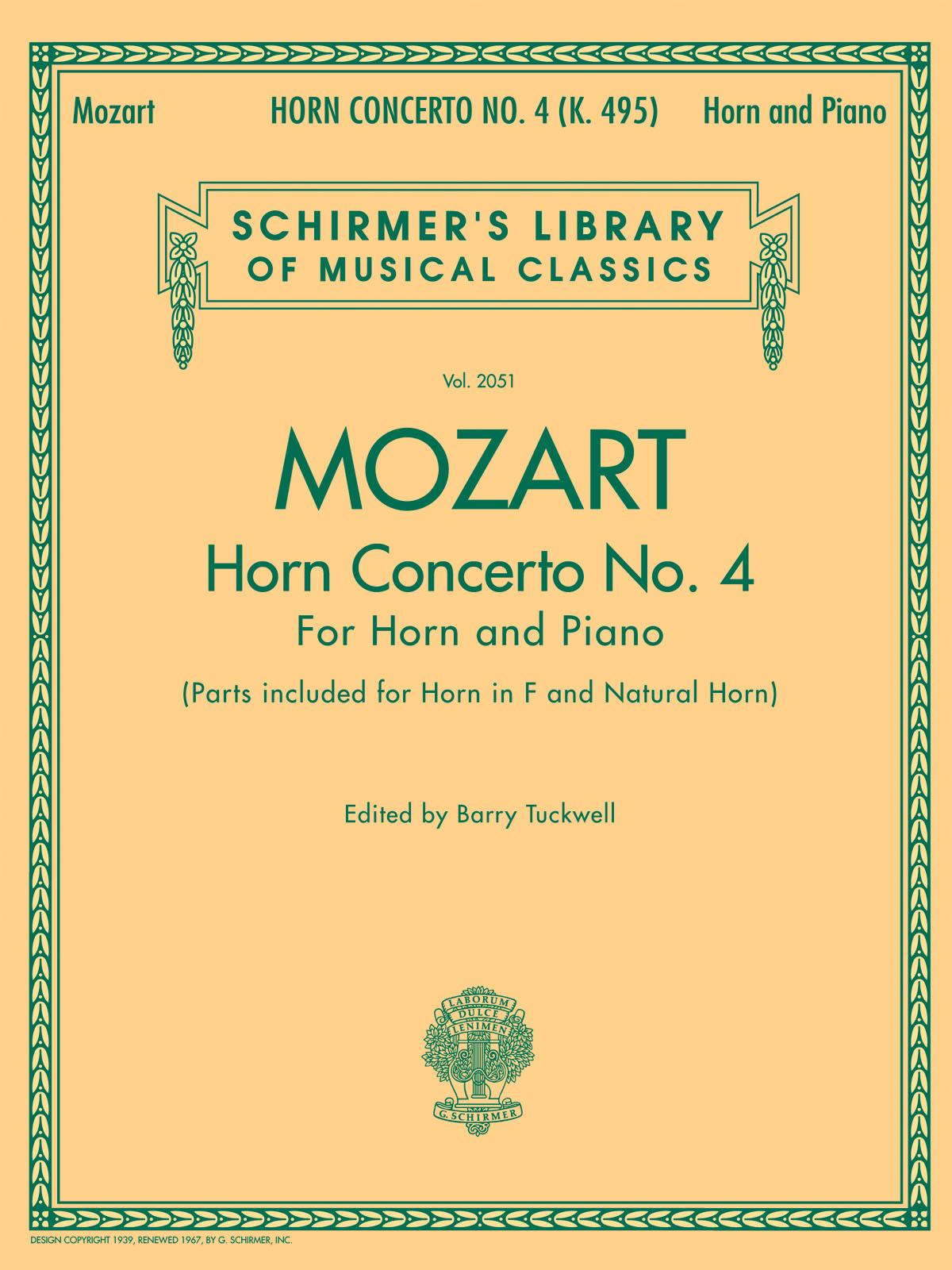 Wolfgang Amadeus Mozart: Horn Concerto No.4: French Horn: Instrumental Work
