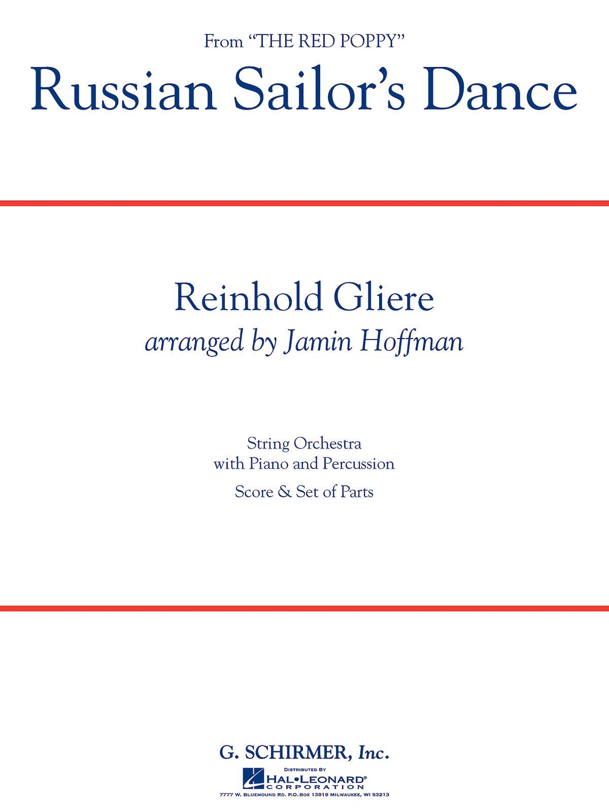 Reinhold Glière: Russian Sailor's Dance: String Orchestra: Score and Parts
