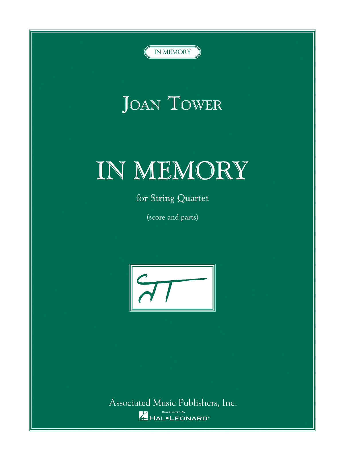 Joan Tower: In Memory: String Quartet: Score and Parts