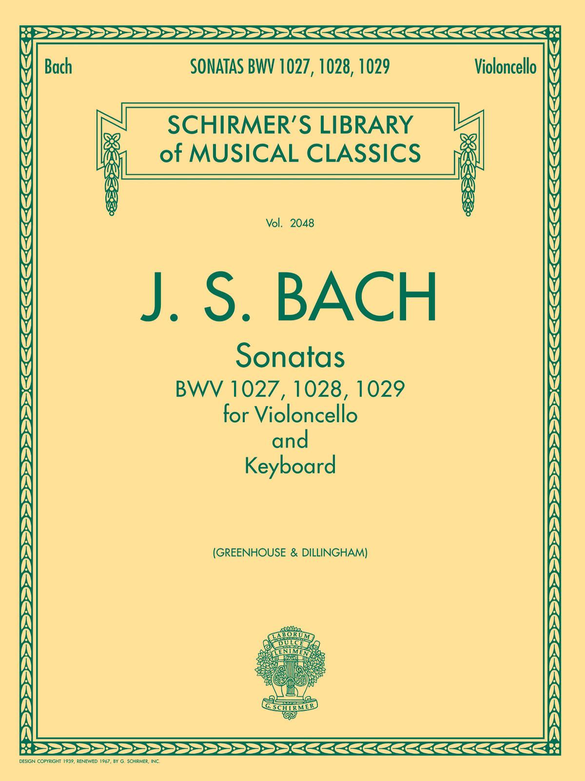 Johann Sebastian Bach: Sonatas For Cello And Keyboard: Cello and Accomp.: