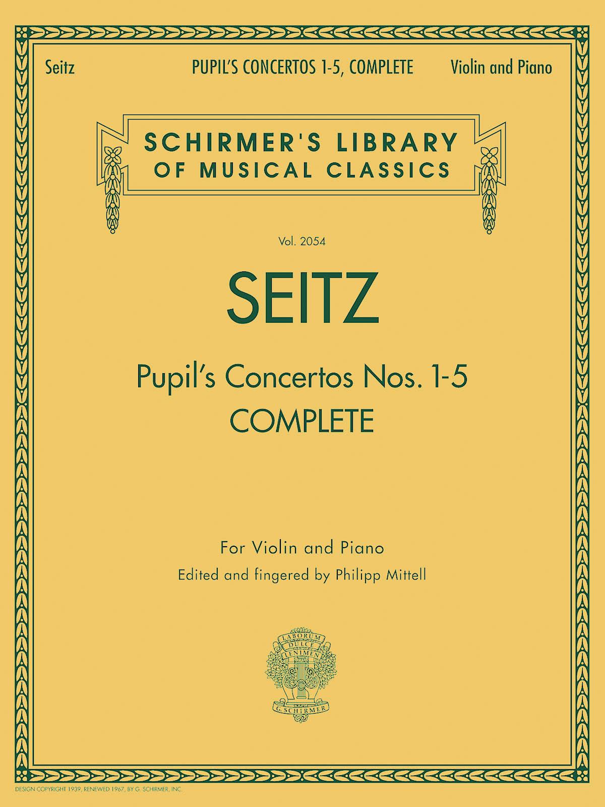 Friedrich Seitz: Pupil's Concertos  Complete: Violin: Instrumental Work