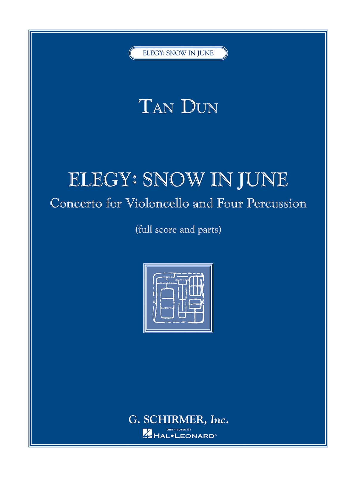 Tan Dun: Elegy: Snow in June: Chamber Ensemble: Score and Parts