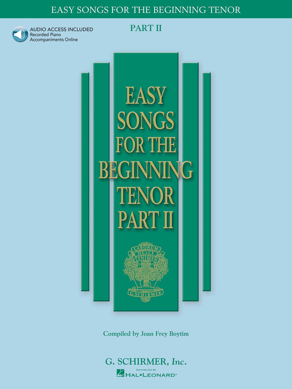 Easy Songs for the Beginning: Tenor: Vocal Album