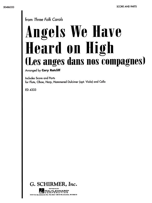 Angels We Have Heard On High: Flute or Oboe: Score and Parts