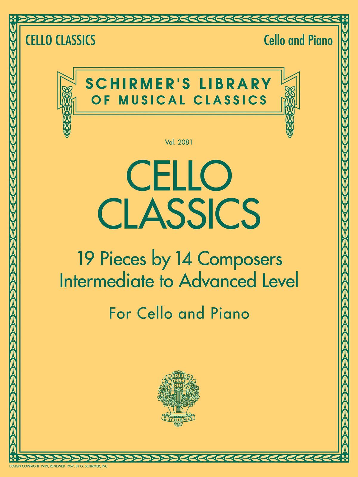 Cello Classics: Cello and Accomp.: Instrumental Album