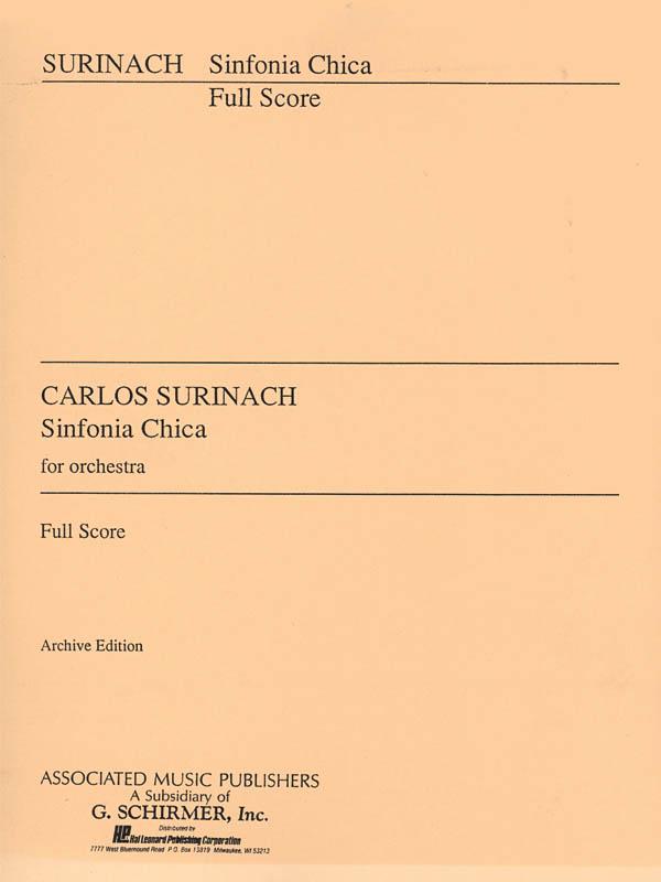 Carlos Surinach: Sinfonia Chica (Small Symphony): Orchestra: Score