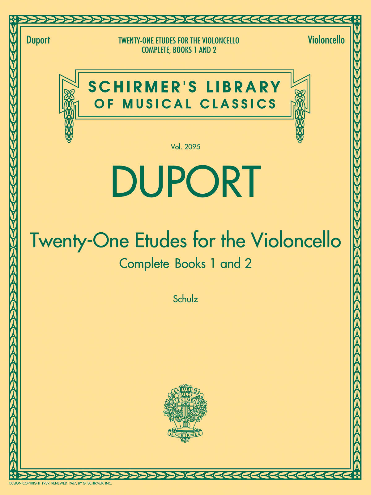 Jean-Louis Duport: 21 Etudes For Cello: Cello Solo: Study