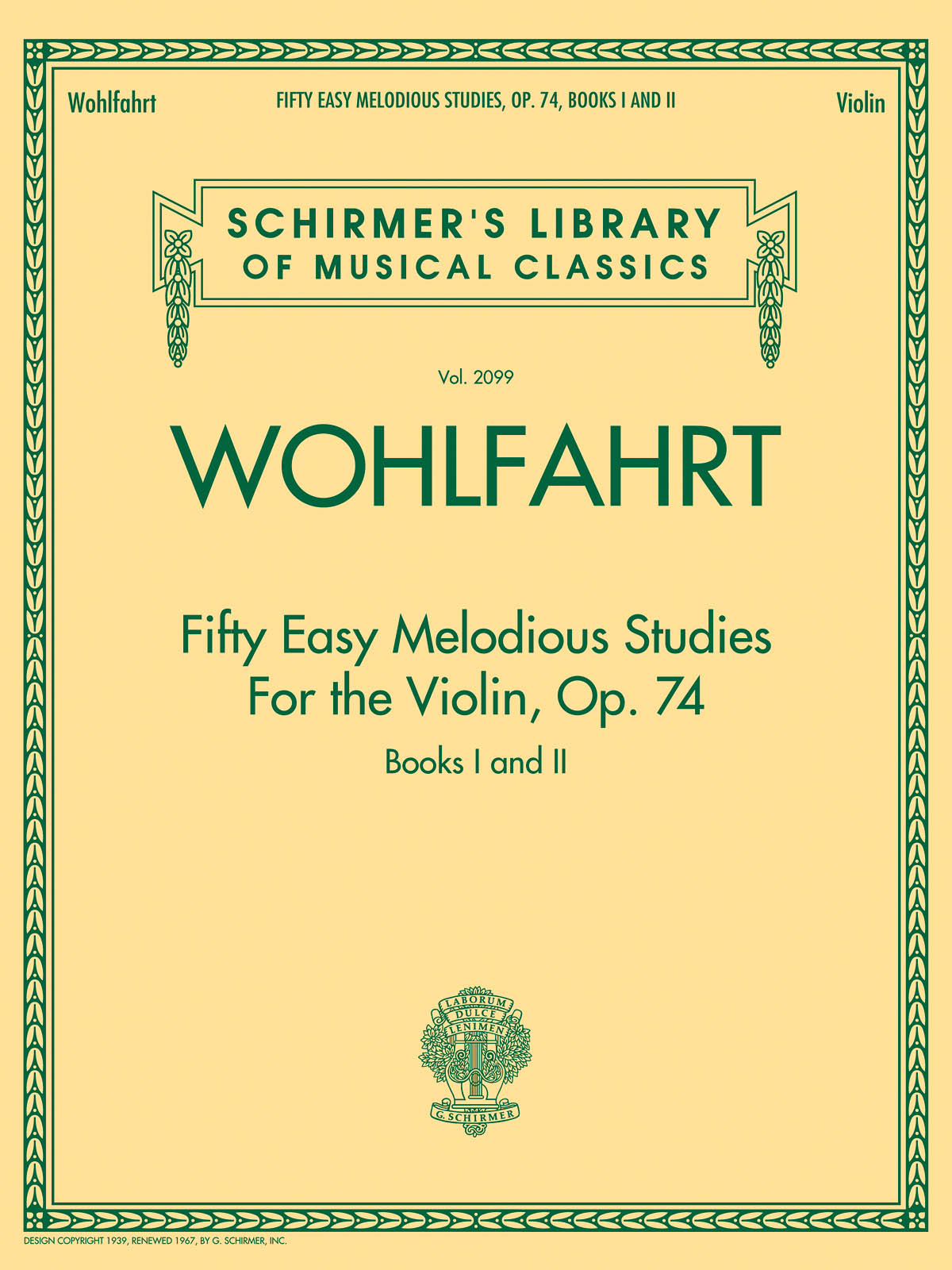 Franz Wohlfahrt: Fifty Easy Melodious Studies for the Violin Op. 74: Piano:
