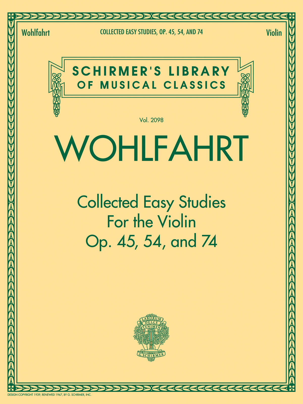Franz Wohlfahrt: Collected Easy Studies For The Violin: Violin: Study