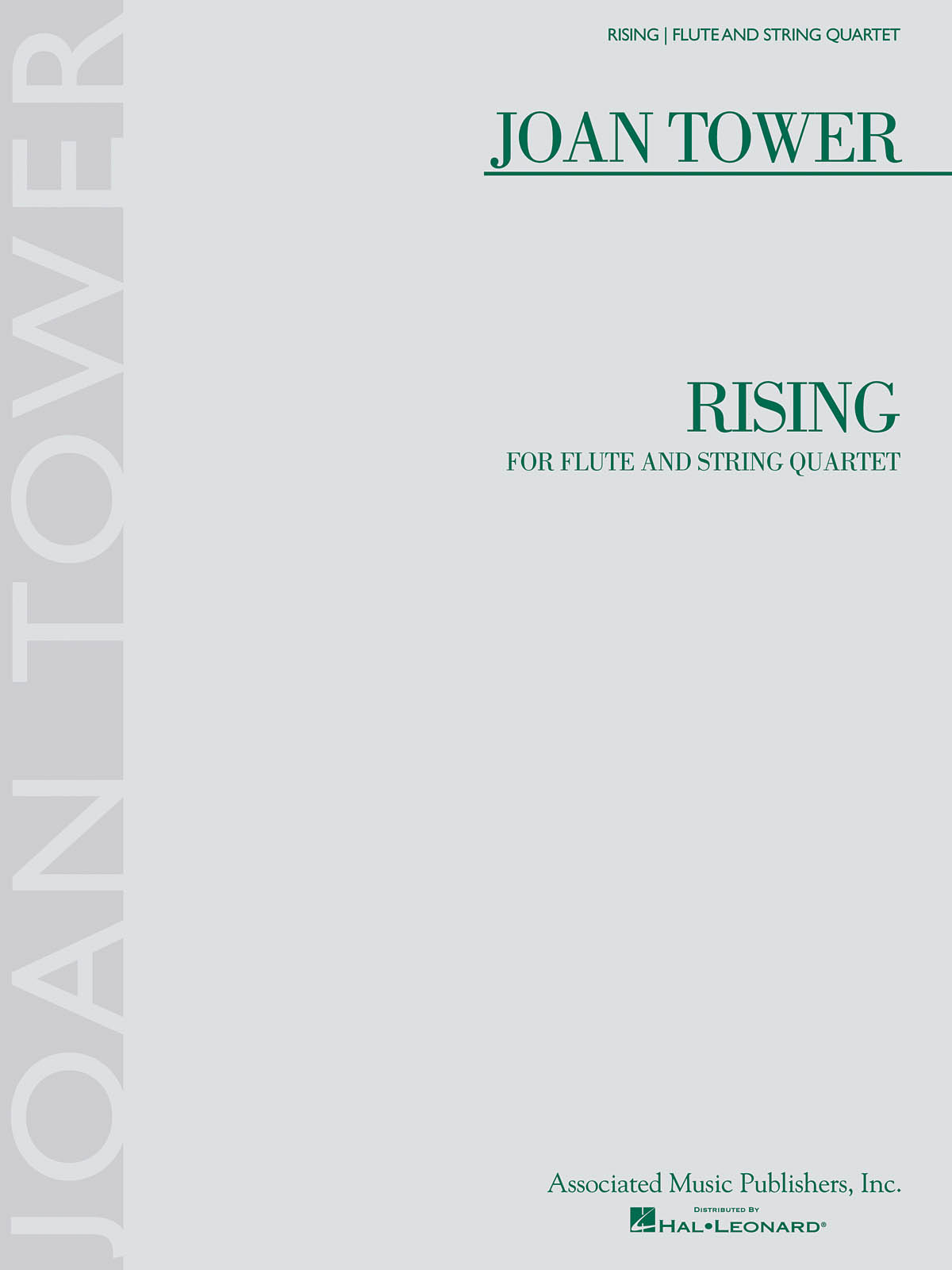 Joan Tower: Rising: Chamber Ensemble: Score and Parts