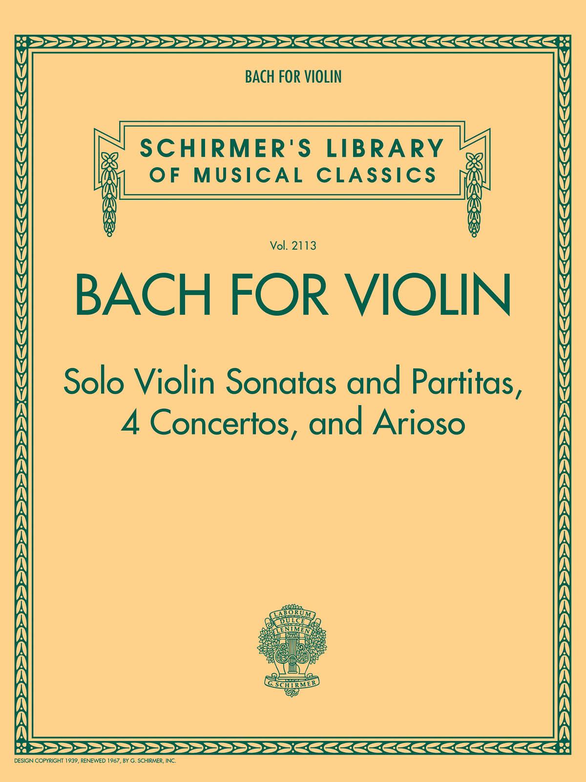 Bach for Violin: Violin: Instrumental Album