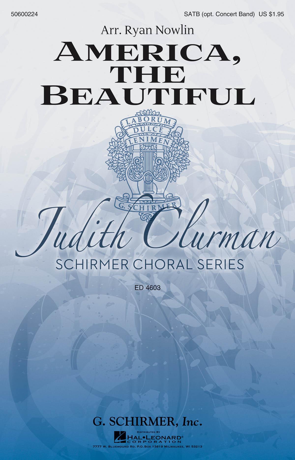 America  The Beautiful: SATB: Vocal Score