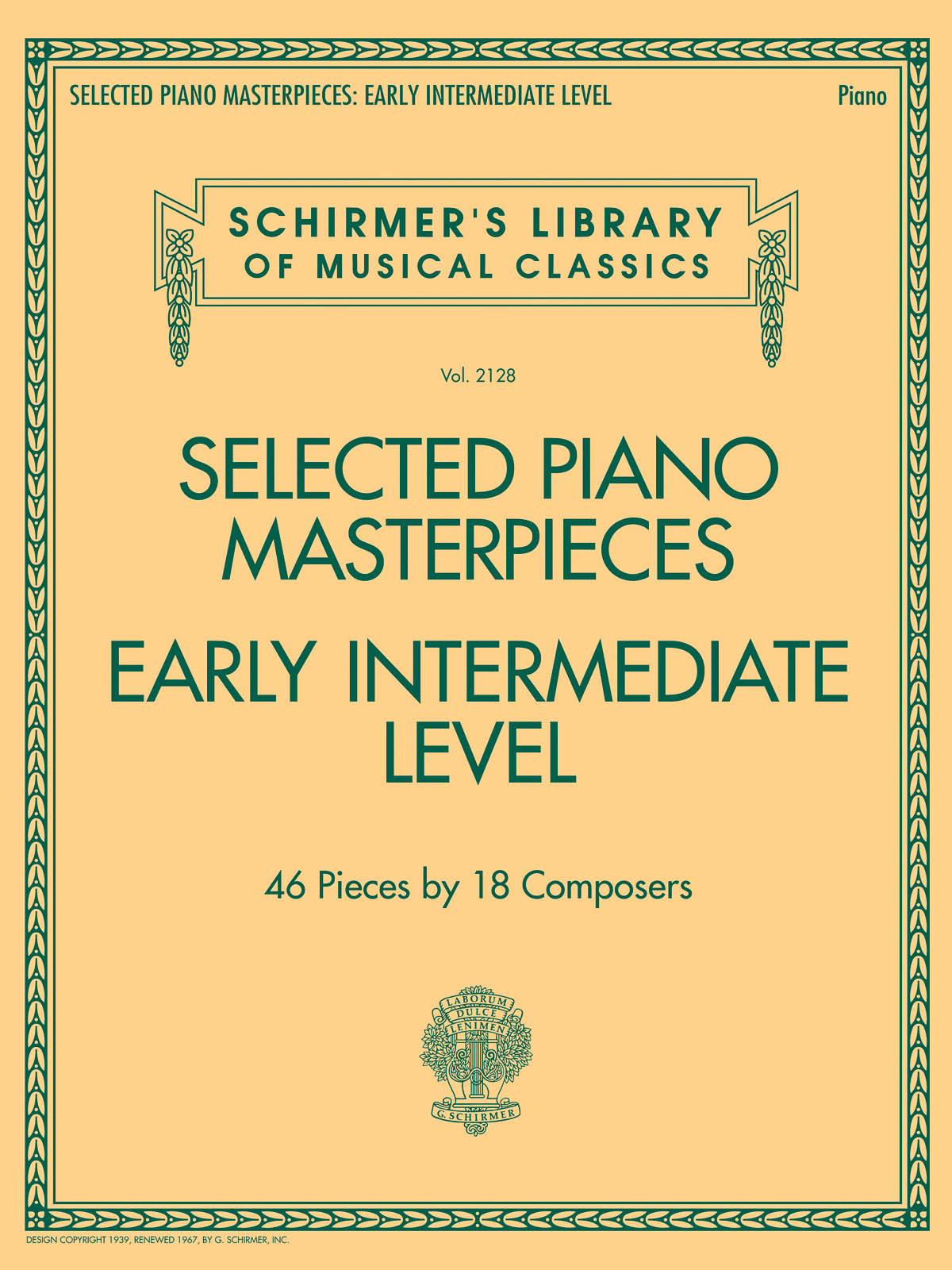 Selected Piano Masterpieces - Early Intermediate: Piano: Mixed Songbook