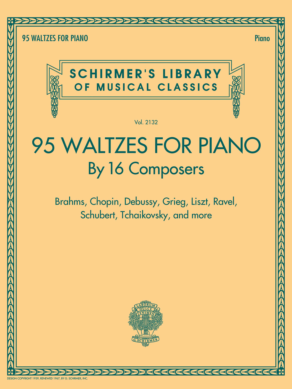 95 Waltzes for Piano by 16 Composers: Piano: Instrumental Album