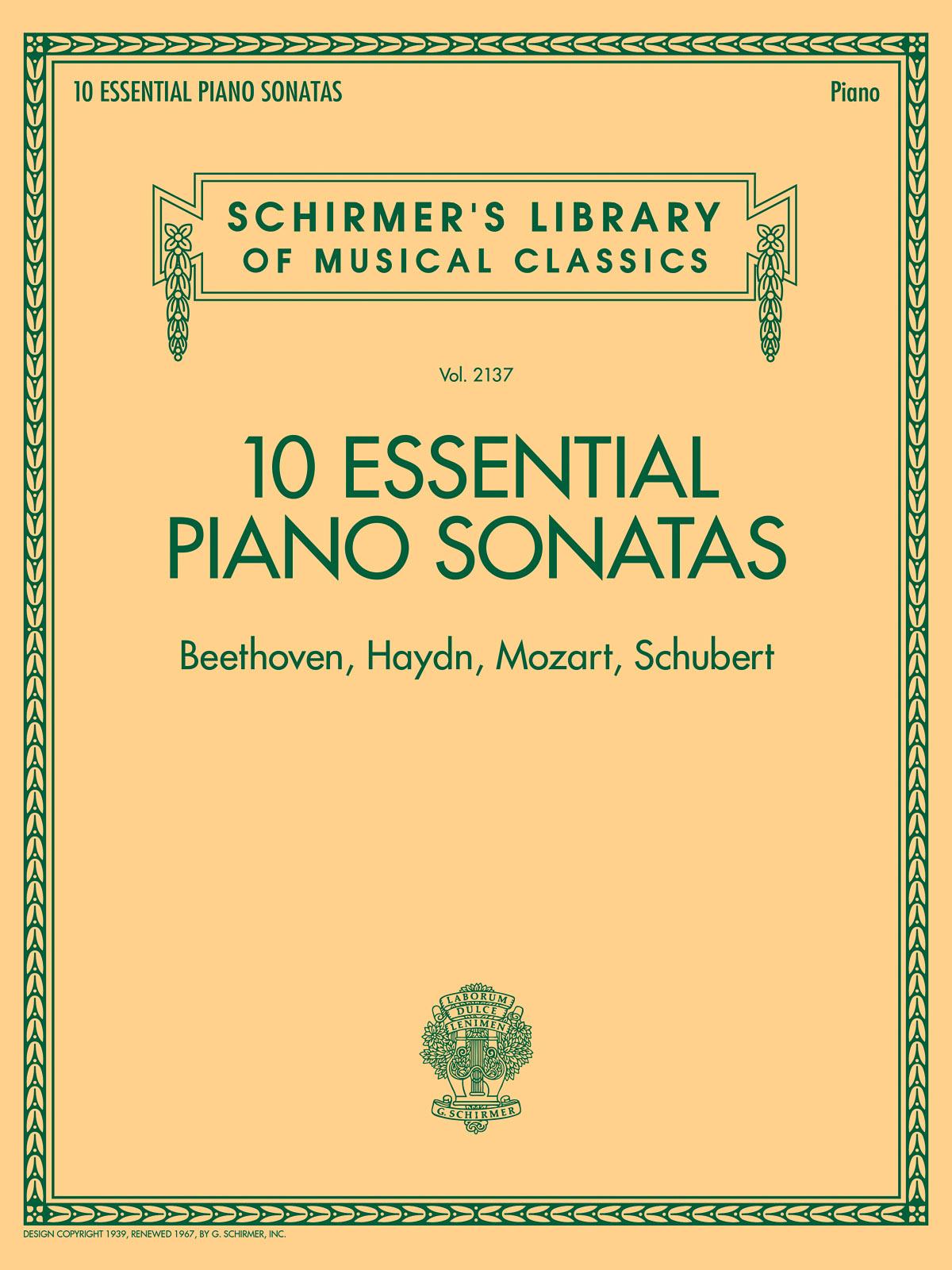 10 Essential Piano Sonatas: Piano: Instrumental Album