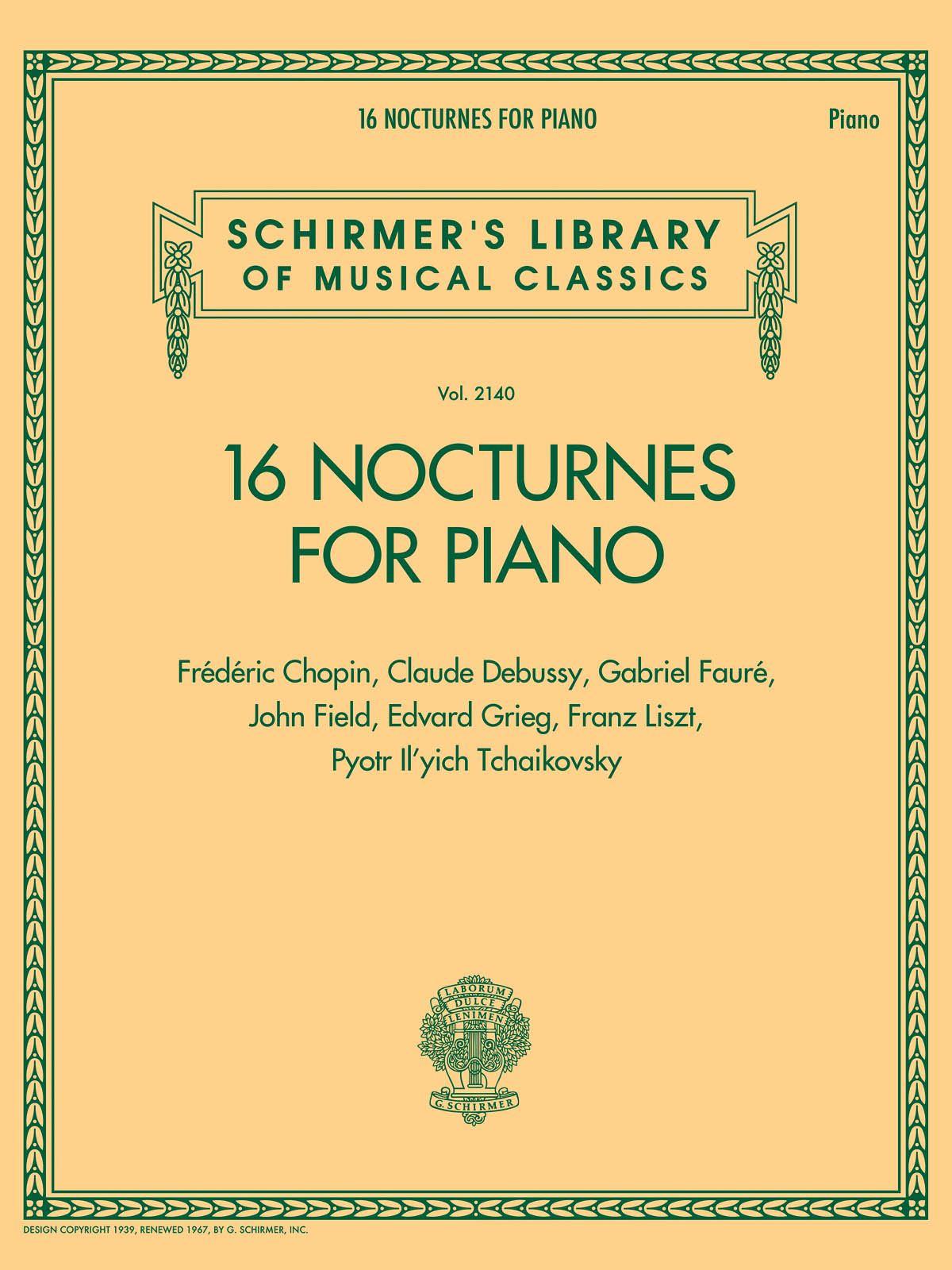 16 Nocturnes for Piano: Piano: Instrumental Album