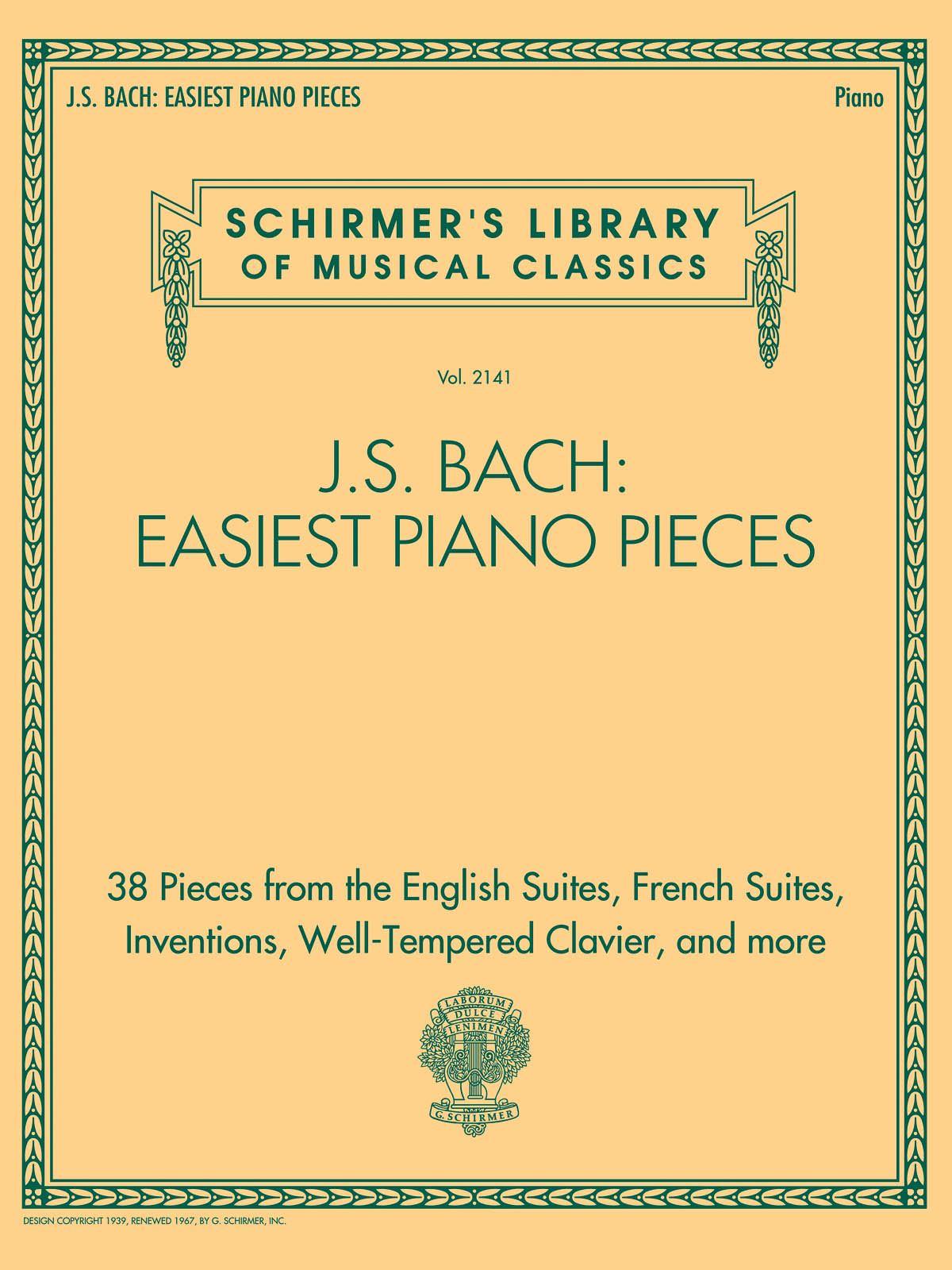 Johann Sebastian Bach: J.S. Bach: Easiest Piano Pieces: Piano: Instrumental