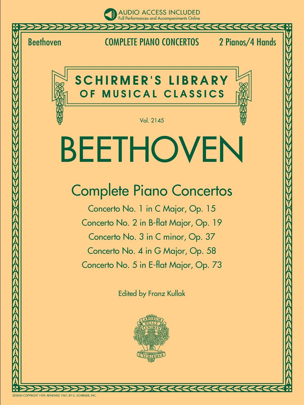 Ludwig van Beethoven: Beethoven: Complete Piano Concertos: Piano: Instrumental