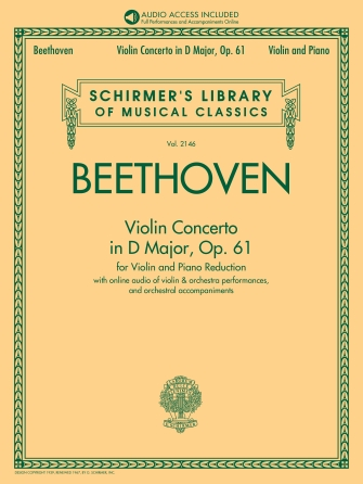Ludwig van Beethoven: Violin Concerto in D Major  Op. 61: Violin: Score