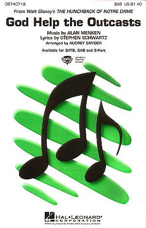 Alan Menken: God Help The Outcasts: SAB: Vocal Score
