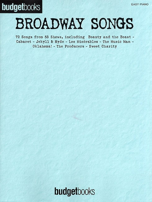 Broadway Songs (Easy Piano): Piano  Vocal  Guitar: Mixed Songbook