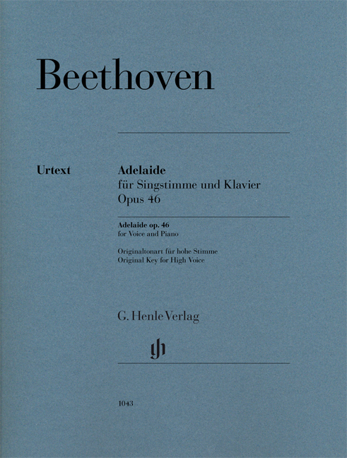 Ludwig van Beethoven: Adelaide Op.46 Voice & Piano Urtext: Voice: Vocal Work
