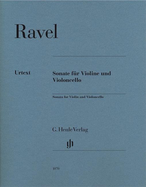Maurice Ravel: Sonata For Violin And Violoncello: Violin & Cello: Score
