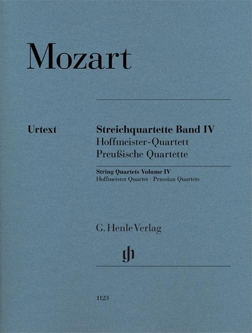 Wolfgang Amadeus Mozart: String Quartets  Volume IV: String Quartet: Score and