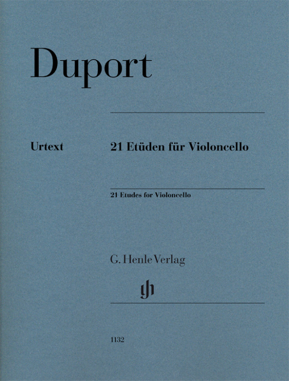 Jean-Louis Duport: 21 Etüden für Violoncello: Cello Solo: Instrumental Tutor