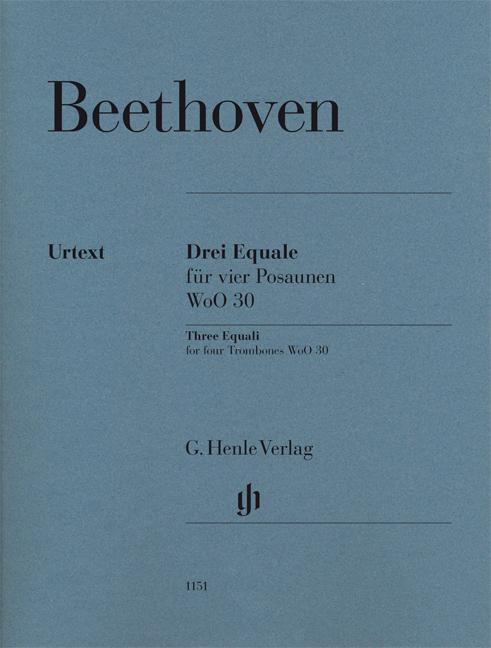 Ludwig van Beethoven: Three Equali For Four Trombones WoO 30: Trombone Ensemble: