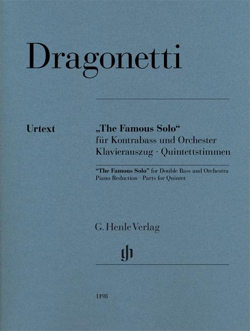 Domenico Dragonetti: The Famous Solo- für Kontrabass und Orchester: Double Bass: